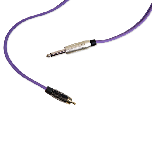Cabos e Clip Cord - ELECTRIC INK INDÚSTRIA E COMÉRCIO - Cabo RCA Electric Ink - Roxo
