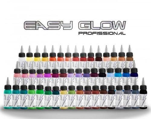 Set de Cores - ELECTRIC INK INDÚSTRIA E COMÉRCIO - Set Completo Easy Glow - 49 Cores