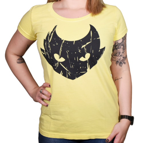 Grife  - ELECTRIC INK INDÚSTRIA E COMÉRCIO - Camiseta Electric Ink Lynx Baby Look Amarelo - M